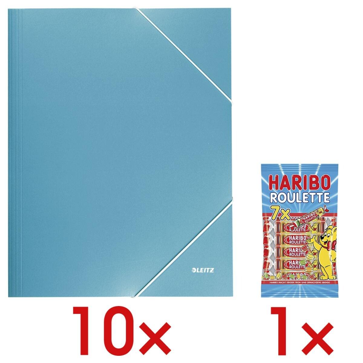 LEITZ 10x map met hoekelastieken A4 »Wow 3982« incl. 1x vruchtengums »Roulette«