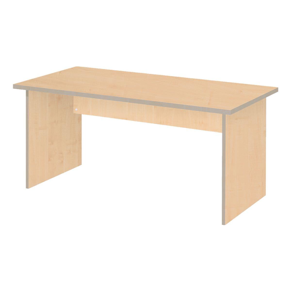 Bureau tool 160 cm vol onderstel esdoorn voordelig bij for Bureau 160 cm