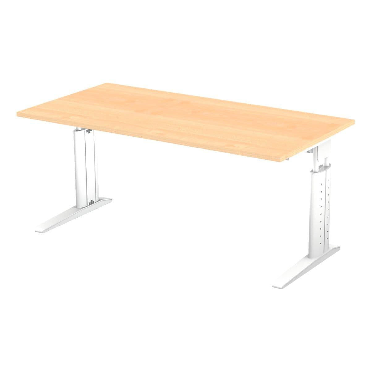 otto office premium bureau otto office line iii 160 cm l onderstel wit voordelig bij otto. Black Bedroom Furniture Sets. Home Design Ideas