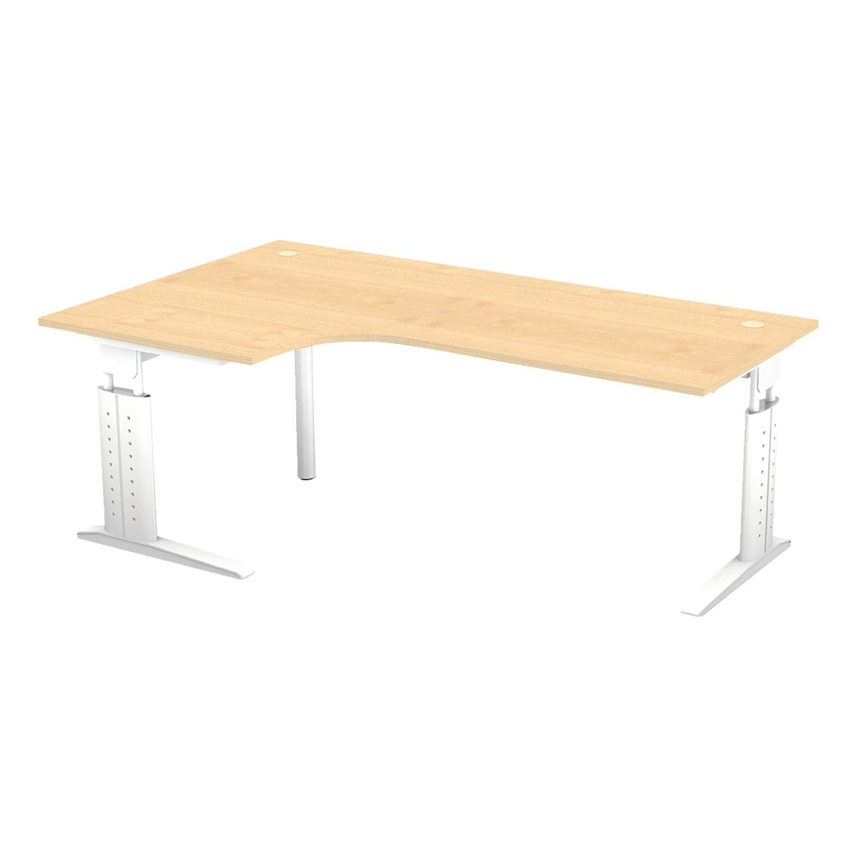 otto office premium bureau otto office line iii 200 cm l onderstel wit voordelig bij otto. Black Bedroom Furniture Sets. Home Design Ideas