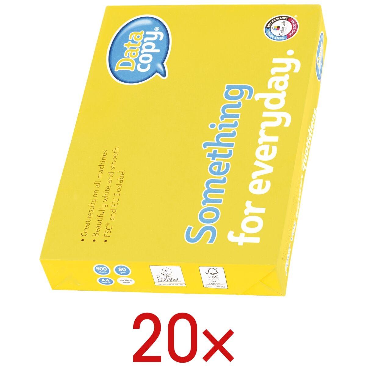 20x Multifunctioneel printpapier A4 Data-Copy Everyday Printing - 10000 bladen (totaal), 80 g/m²