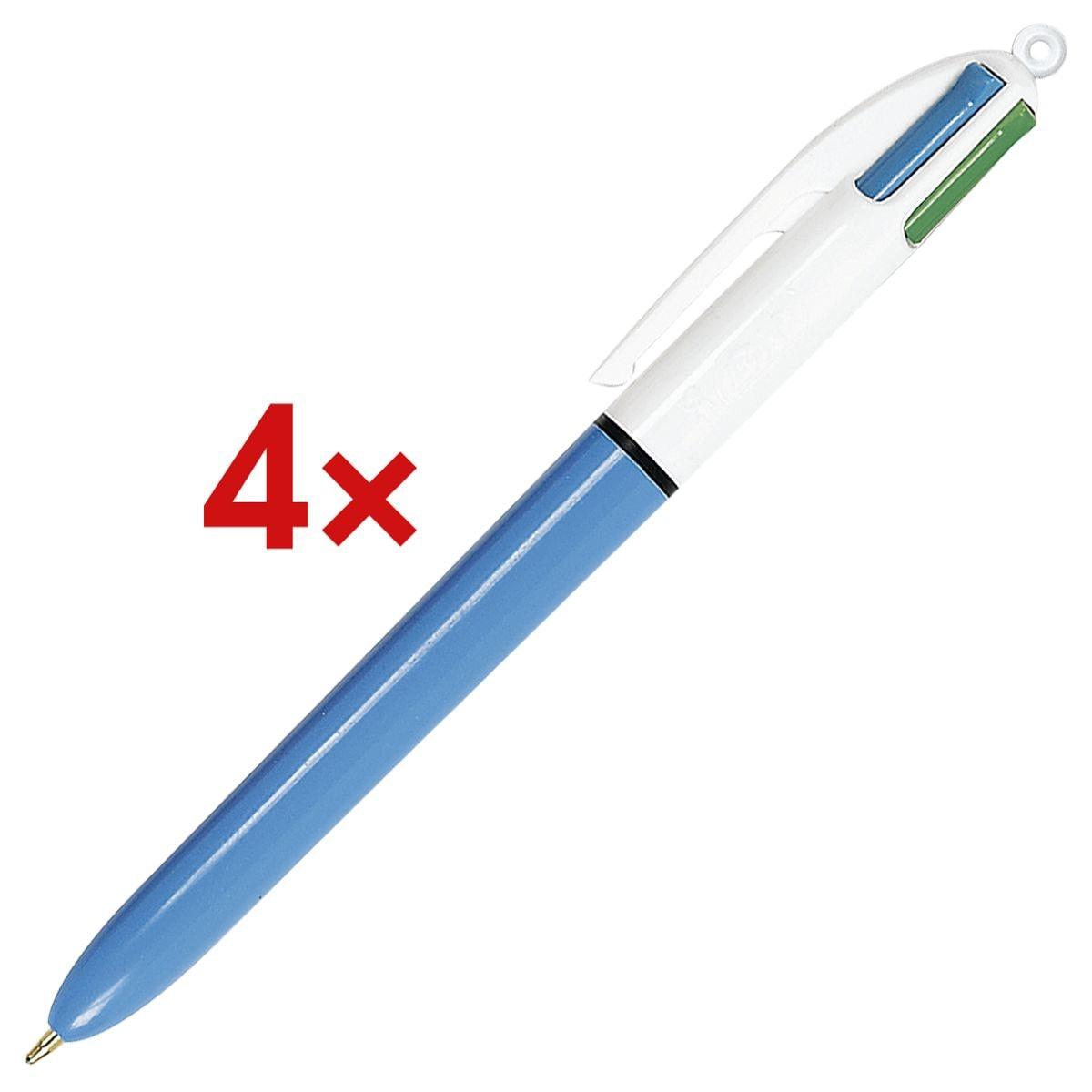 4x Meerkleuren balpen BIC 4 Colours, documentecht