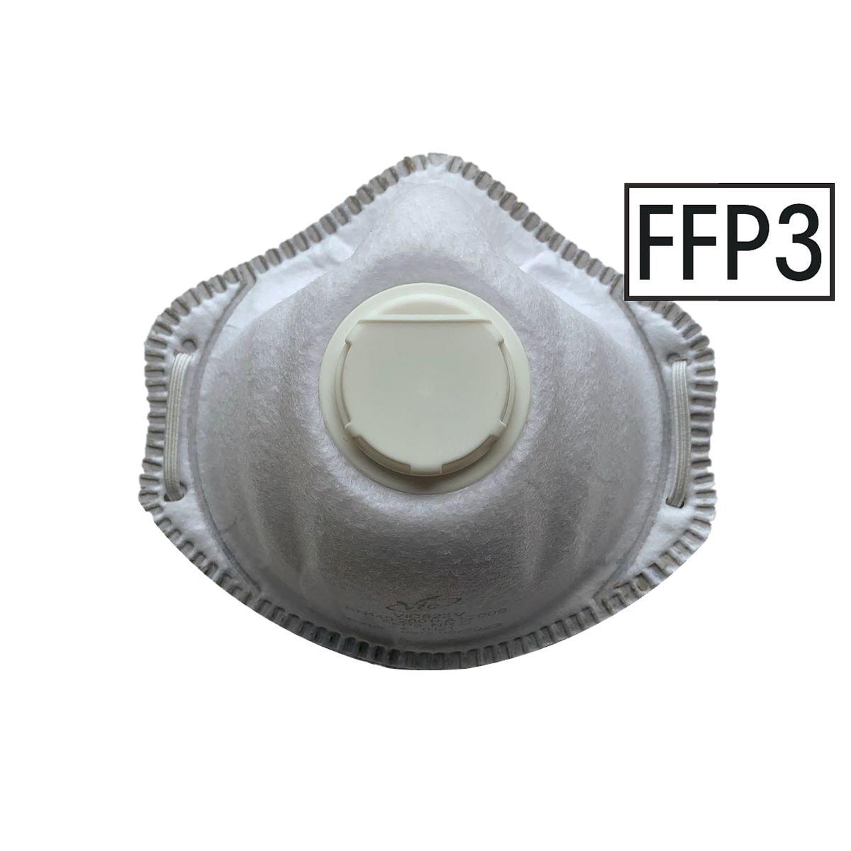 UVEX Pak met 10 FFP3 wegwerpmaskers met ventiel »VIC823V«