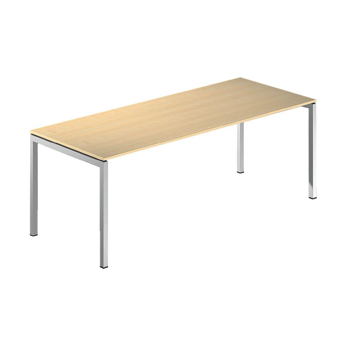 Cp bureau asisto 200 cm 4 poten antraciet voordelig for Bureau 200 cm