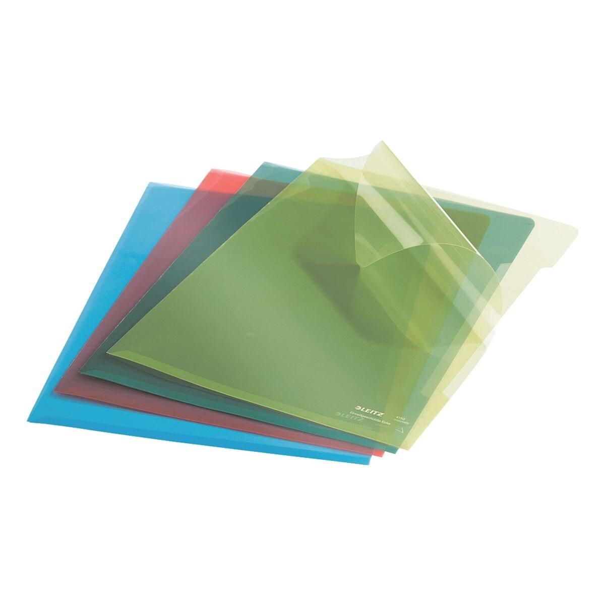 LEITZ 100 gekleurde insteekhoesjes »Premium 4153« (4 kleuren)