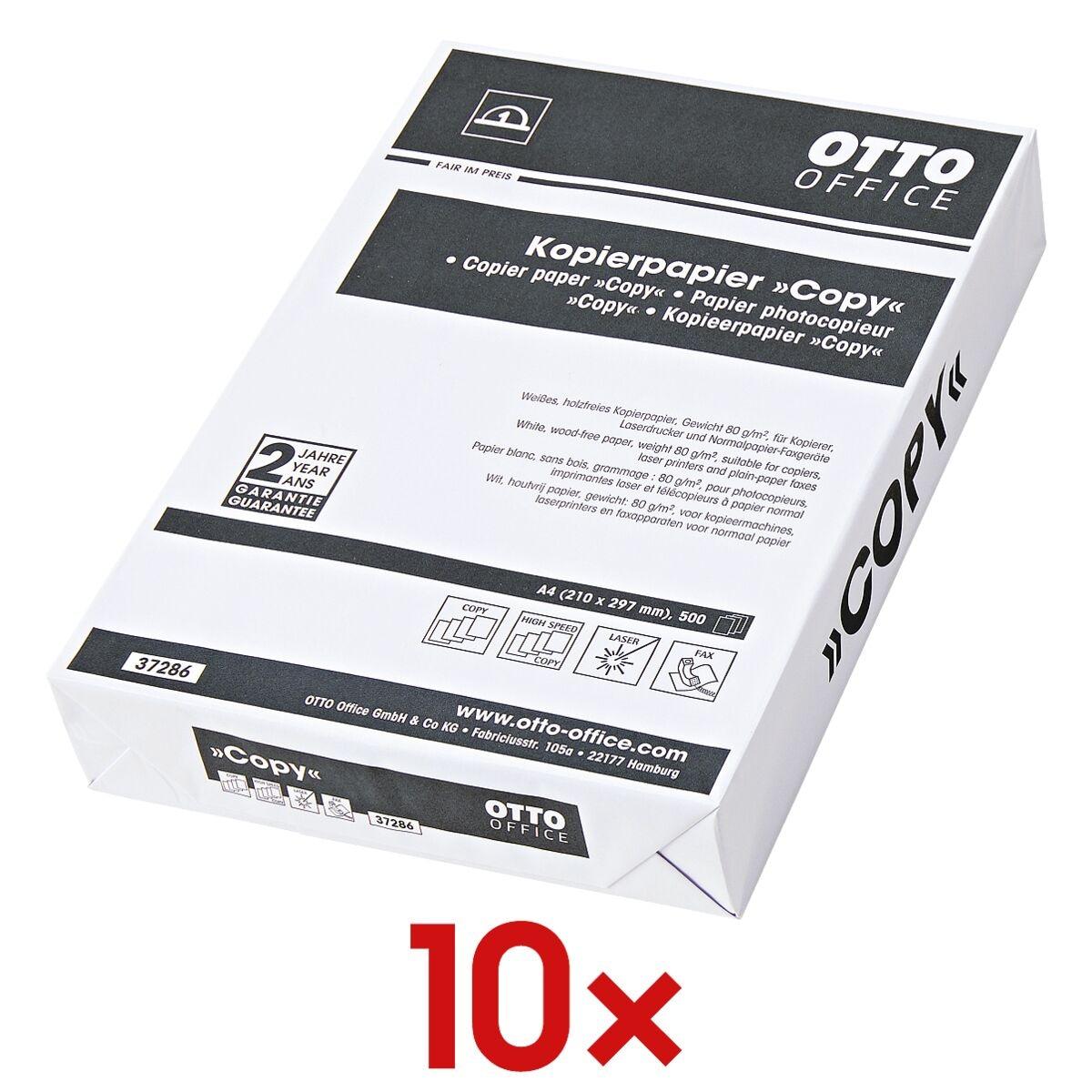 10x Kopieerpapier A4 OTTO Office Budget COPY - 5000 bladen (totaal), 80g/qm