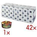 Tork Toiletpapier Premium 4-laags, extra wit - 42 rollen (7 pakken à 6 rollen) incl. Fruitgoms »Phantasia«