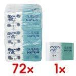 wepa Mach mit… Toiletpapier Doe mee...! 3-laags, extra wit - 72 rollen (9 pakken à 8 rollen) incl. Keukenrollen 3-laags, 4 rollen