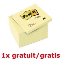 Post-it Notes 5+1 -set herkleefbare notes »Notes 654«