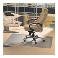 bureaustoelmat tapijt vloeren, vinyl, rechthoek 115 x 134 cm, Floortex Vloerbeschermende mat