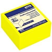 OTTO Office Kubus herkleefbare notes briljant geel 75x75 mm 400 blaadjes