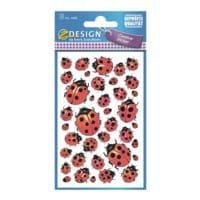 ZDesign Papieren sticker »Lieveheersbeestje«