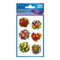 ZDesign Papieren sticker »Bos bloemen«