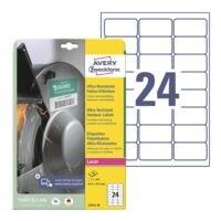 Avery Zweckform Ultra-Resistente 63,5x33,9 mm Folie-Etiketten L7912-10