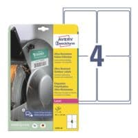 Avery Zweckform Ultra-Resistente 99,1x139 mm Folie-Etiketten L7915-10