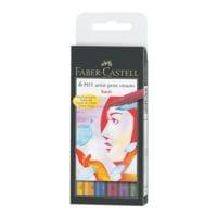 Faber-Castell Pak met 6 tekenstiften  »PITT artist pen B basic«