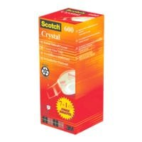 Scotch Plakband Crystal Clear Tape 600, transparant, 8 stuk(s)