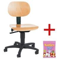 Topstar Werkstoel »Tec 11« zonder armleuningen incl. vruchtengums »Joghurtgums«