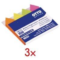 3x OTTO Office herkleefbare markeerstroken Pijlvorm 43 x 11 mm, papier