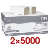 2x Papieren handdoekjes OTTO Office Budget Budget 1-laag, natuurwit, 25 cm x 23 cm van gerecycleerd papier met Z-vouw - 10000 bladen (totaal)
