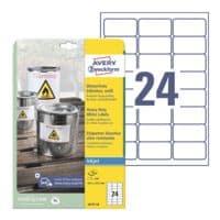 Avery Zweckform Weerbestendige folie-etiketten Inkjet 63,5 x 33,9 mm »J4773-10«