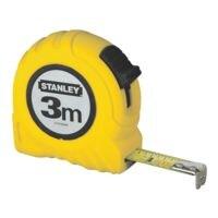 STANLEY Rolbandmaat: »Powerlock« 3 m gele kunststof behuizing