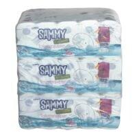 wepa Sammy Toiletpapier Hybrid 4-laags, extra wit - 90 rollen (9 pakken à 10 rollen)