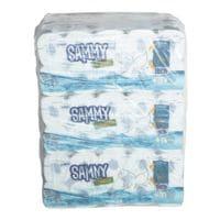 wepa Sammy Toiletpapier Hybrid 3-laags, extra wit - 90 rollen (9 pakken à 10 rollen)