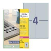 Avery Zweckform Pak met 24 type-etiketten »L6134-20« zilver