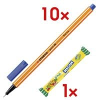 10x STABILO fineliner point 88®, 0,4mm incl. kauwbonbons »Maoam Sour«