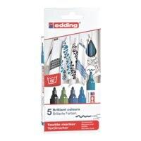 edding Pak met 5 textielmarkers »4500/5099 Cool Colours«