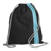 Gymtas »Go« zwart/azuurblauw