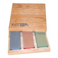 DMT 3-delige set diamant slijpstenen in houten box