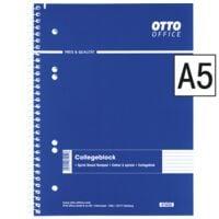 OTTO Office collegeblok standaard A5 gelinieerd, 80 bladen