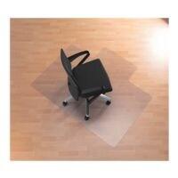 bureaustoelmat voor harde vloeren, Makrolon®, rechthoek met lip (U) 120 x 150 cm, RS Office Products Ecogrip