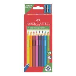 Faber-Castell (Schule) Pak met 10 kleurpotloden »Triangular Jumbo«