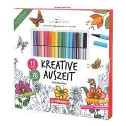 Stabilo Kleurboek voor volwassenen  »voorjaarsgevoel« incl. etui met 15 viltstiften  »Pen68«
