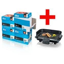 4x Eco-box kopieerpapier Inapa tecno star (A4, 80 g/m²) incl. Barbecue-Elektrogrill »PG 5828«