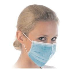 Franz Mensch 50 stuks mondbescherming type II masker »HYGOSTAR«, 3-laags, blauw