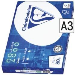 Multifunctioneel printpapier A3 Clairefontaine 2800 - 500 bladen (totaal), 80 g/m²