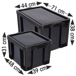 Really Useful Box Set opbergboxen 84 liter en 35 liter