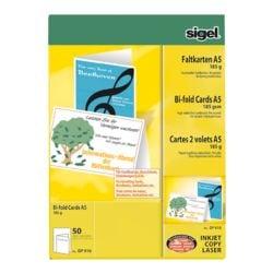 vouwkaarten Sigel, A5, zonder envelop, 50 stuk(s)