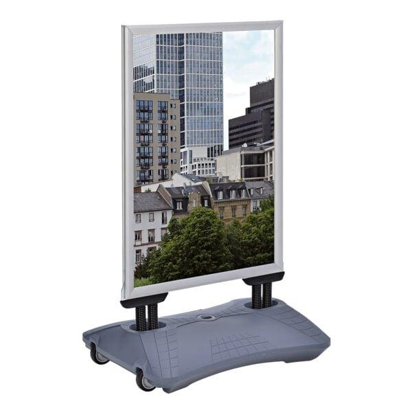update displays Reclamebord »WindPro Lite« A1 silver