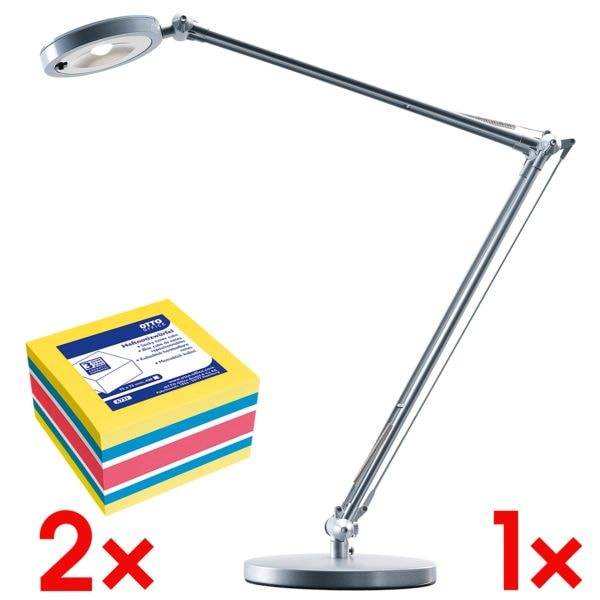 Hansa LED lamp »4you« H5010608 incl. 2x kubus herkleefbare notes 4 kleuren 75x75 mm 400 blaadjes