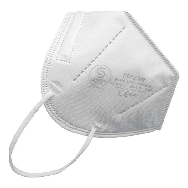 Sentias 10 stuks vouwmaskers FFP2 conform EN 149 Made in Germany