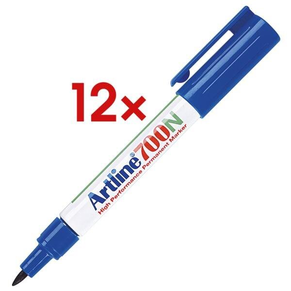 12x Artline Permanent-Marker 700N - ronde punt, Lijndikte 0,7 mm (F)