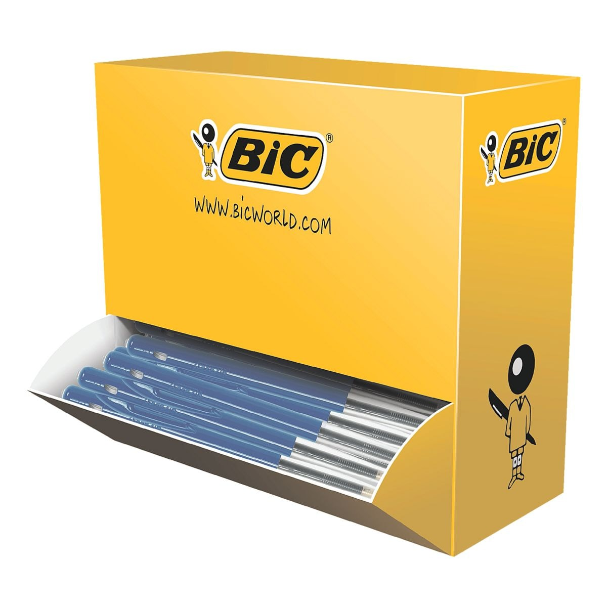 100x Stylo-bille BIC M10, convient aux documents officiels