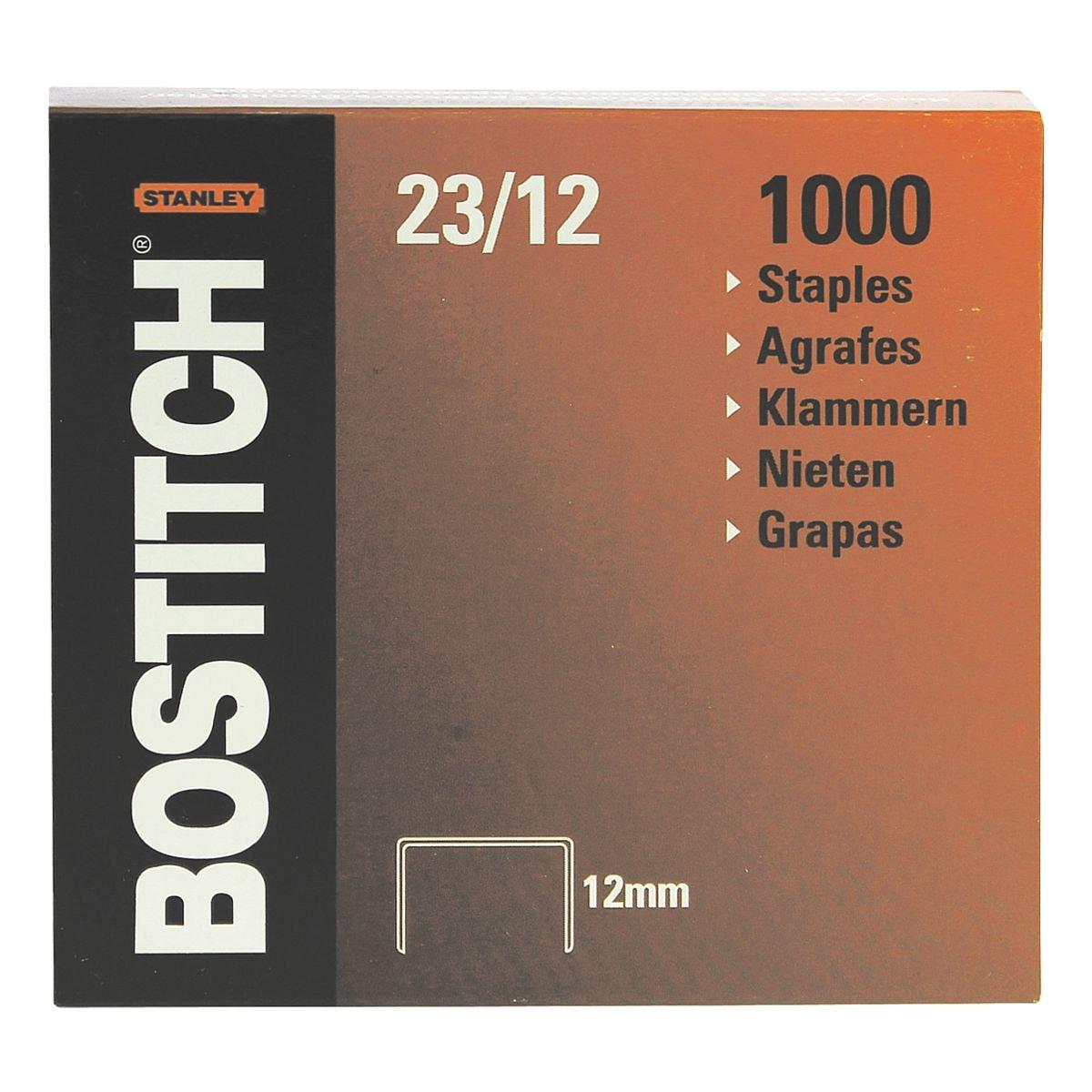 Bostitch Agrafes « 23-12-1M », 12 mm
