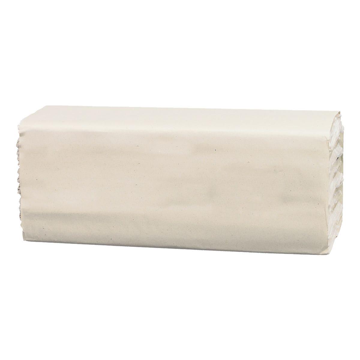 Essuie-mains en papier Satino comfort 2 épaisseurs, blanc, 25 cm x 23 cm de Papier recyclé avec pliage en C - 3072 feuilles au total
