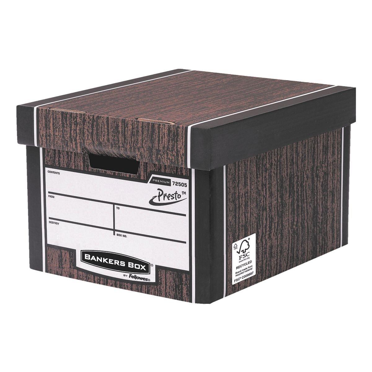 Bankers Box System Caisses à archives 33/38,1/25,4 cm - 10 pièces